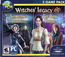 Witches Legacy SLUMBERING DARKNESS + THE DARK THRONE Hidden Object PC Game NEW