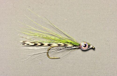 Chartreuse Buckeyed Baitfish Streamer Trout Flies Size 4