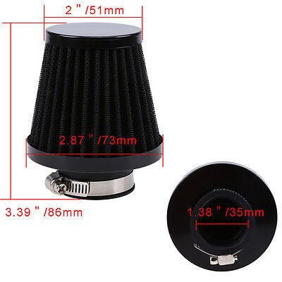 35/39/48/54/60mm Universal Motorcycle Scooter Air Intake Filter Cleaner Breather