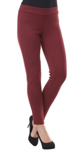 Burgundy Color 8523038BU New Mud Pie Hunter Ponte Womens Knit Leggings Pants