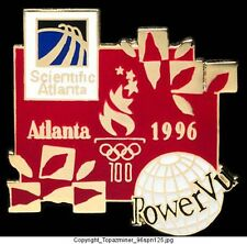 OLYMPIC PIN Atlanta 1996 POWERVU Sponsor Partner