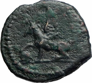 ANONYMOUS-Genuine-Ancient-81AD-Rome-Roman-Quadrans-Coin-GRIFFIN-TRIPOD-i74887
