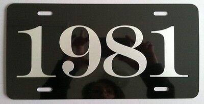 1984 YEAR METAL LICENSE PLATE CAMARO MUSTANG GT CORVETTE PONTIAC TRANS-AM JEEP
