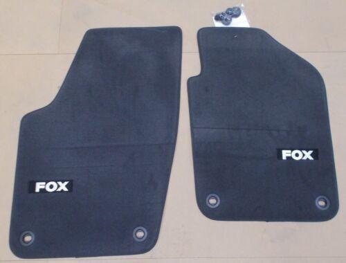 NEW Genuine VW Fox de luxe Anthracite avant tapis de sol Set