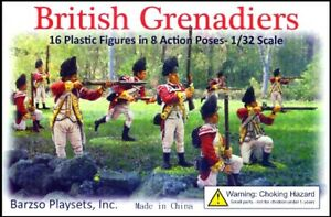 BARZSO-PLAYSETS-BRITISH-GRENADIERS-16-Plastic-Figures-SEALED-BOX-MIB-FREE-SHIP