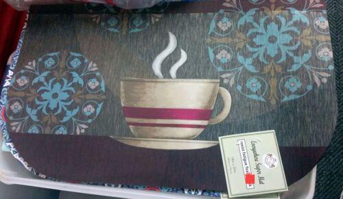 "D Shape by A//H 18/"" x 30/"" HOT COFFEE CUP ANTI-FATIGUE NONSLIP FLOOR MAT// RUG"
