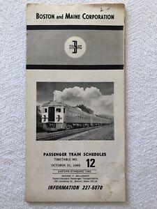 Vintage-1965-Boston-and-Maine-Railroad-Train-Schedule-Passenger-Timetable-No-12