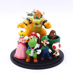Super-Mario-Bros-Figurine-Statue-Collection-Nintendo-Video-Game-figures-Bowser-New