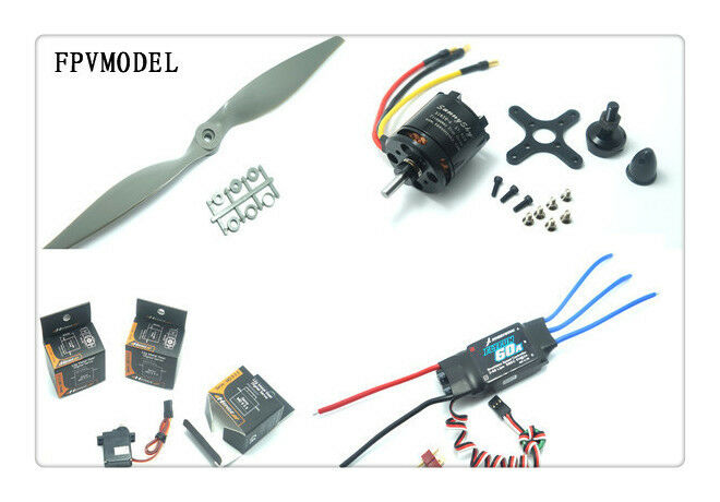 Envío Gratis skyhunter avión Power Combo (motor, CES, Accesorios Y Servos Kit)