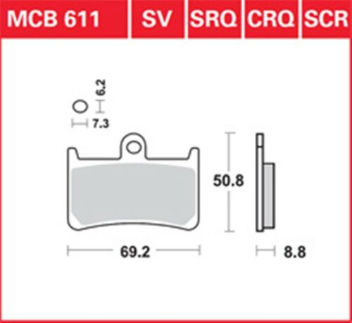 AP-set di pastiglie dei freni anteriore MCB 611 YAMAHA FJR ABS 1300//a//.. BRAKE PADS SET FRONT