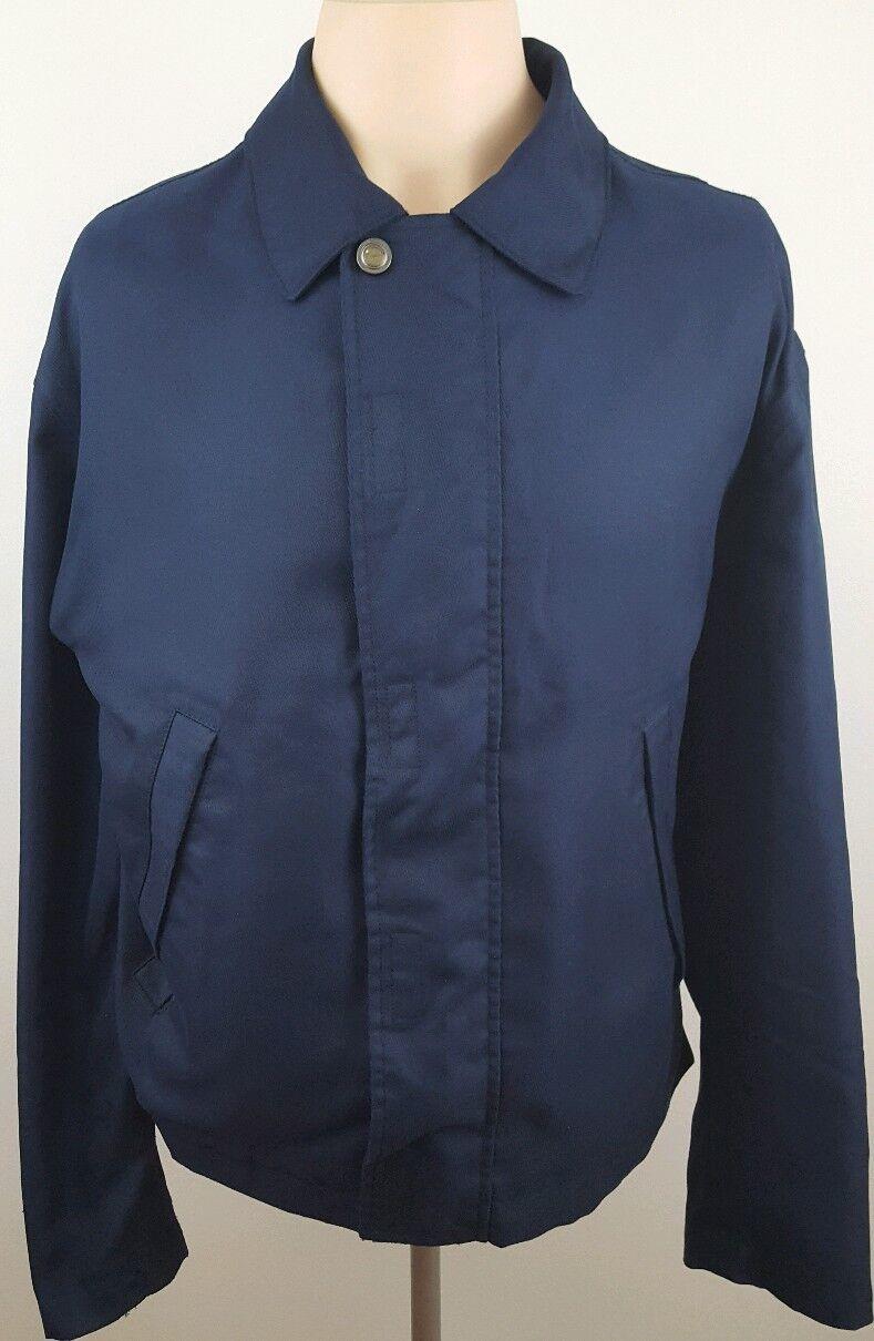 ERMENEGILDO ZEGNA Micredene 10,000 Mens Waterproof Collar Coat Hip Length Navy M