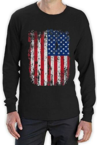 4th Of July American Vintage Distressed USA Flag Cool Men/'s Long Sleeve T-Shirt