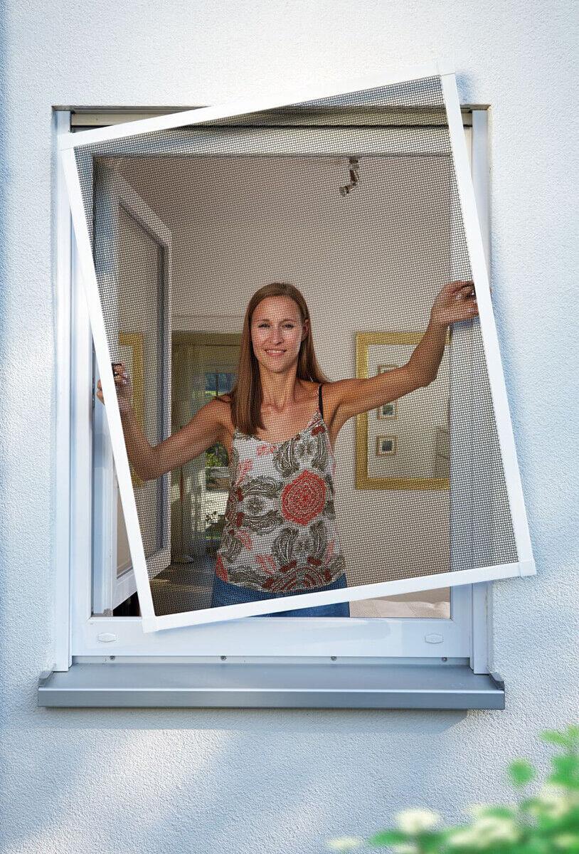 Schellenberg Insektenschutz-Fenster PREMIUM Fliegengitter mit Alu-Rahmen