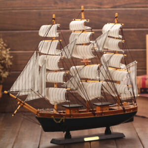 Wooden-Boat-Model-Sailing-Sailing-Ship-Furnishing-Craft-Models-Brand-new