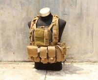 Airsoft Tactical 1000d Cordura Tmc Molle Rrv Plate Carrier With Pouch (cb) 2033