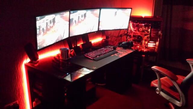 Gaming Desk LIGHTING KIT Gamer BEAUTIFUL COLORS Remote Control all COLORS