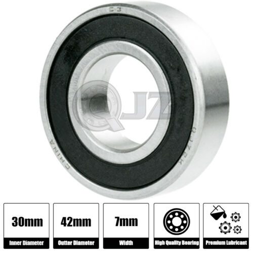1x 6806-2RS 6806RS Deep Groove Rubber Shielded Ball Bearing 30mm x 42mm x 7mm
