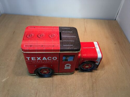 NO 2 IN SERIES By R/&B COLLECTIBLES TEXACO RED FIRE ENGINE LITHO TIN COIN BANK