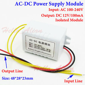 Details about AC-DC Buck Step Down Converter 110V 230V to DC 12V Isolated  Power Supply Module