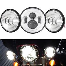 """7"""" LED Projector Daymaker Headlight Passing Lights For Harley Davidson Touring"""
