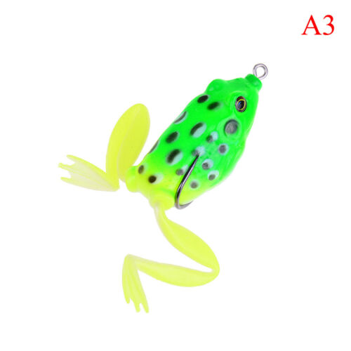 7cm 12g Lifelike Leg Jump Frog Enticement Lures Silicone Bait Fishing Tackle LS