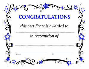 certificate of congratulations