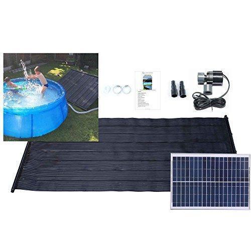 Calefacción solar de piscina agua caliente Mat 1.33m X 3m 20w Bomba De Panel Solar &