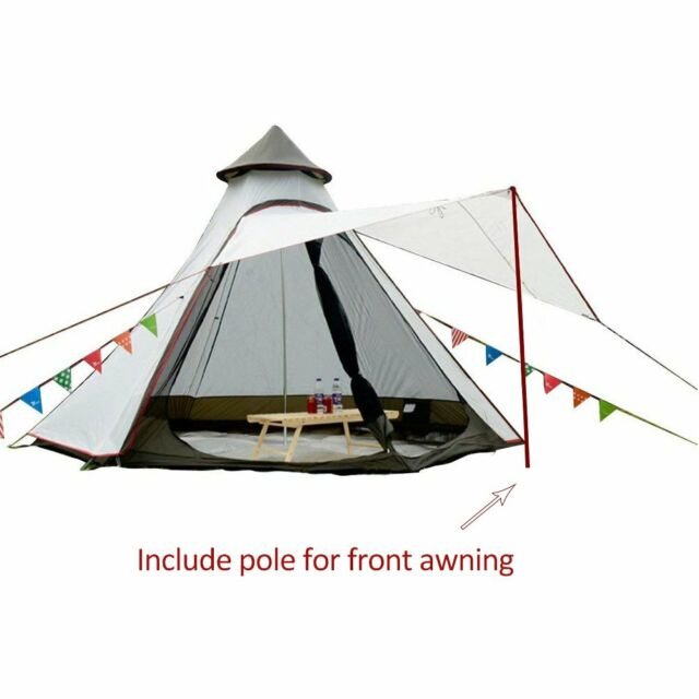 TEEPEE TIPI STYLE 4 PERSON BERTH CAMPING FESTIVAL WIGWAM TENT CAMPING OUTDOOR TR