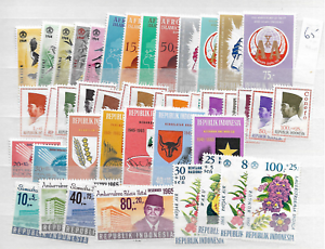 1965-MNH-Indonesia-year-complete-according-to-Michel-system