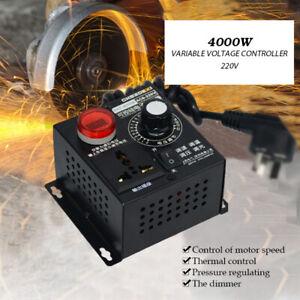 AC SCR Motor Drehzahlregler 220V Regler 4000W Spannungsregler Dimmer Thermostat