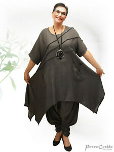 PoCo-DeSiGn-LAGENLOOK-Kleid-Long-Shirt-Tunika-44-46-48-50-52-54-58-L-XL-XXL-XXXL