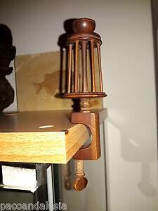 DéSintéRessé Raro E Antico Arcolaio Filatoio In Legno In Miniatura Per Filare Con Morsa Surface LustréE