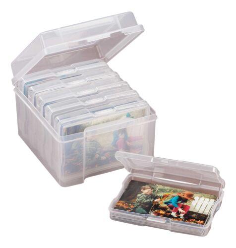Plastic Photo Storage Set of 7 Transparent