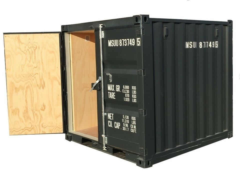 Container, HELT NY Isoleret 8' container 8 fods