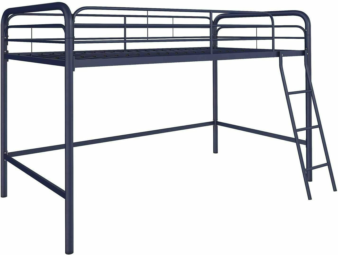 Picture of: Twin Size Metal Bunk Bed Teen Bedroom Furniture Blue Color Mattresses Available For Sale Online Ebay