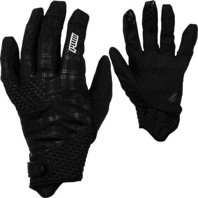 Pow Gloves Rake Glove Mountain Bike BMX Men/'s Size Large White Plaid