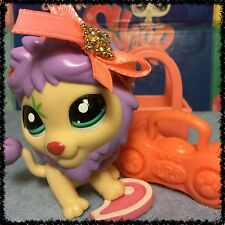 Littlest Pet Shop #2084 Rare & VHTF Purple Maned-Lion w/ Accessories