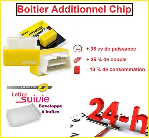 BOITIER ADDITIONNEL CHIP OBD2 TUNING ESSENCE RENAULT CLIO 2 1.4 16V 100 CV