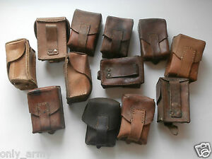 3-x-Yugoslavian-Army-M48-Leather-Ammo-Pouch-MAUSER-Ammunition-Surplus-YugoSINGLE