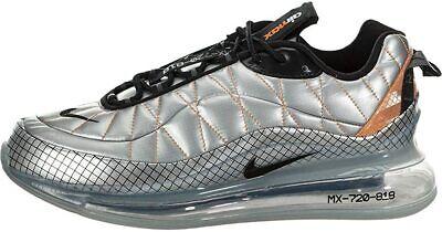 Mens Nike Air Max 720 818 Metallic Silver Black Bv5841 001 Size