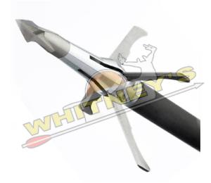"""4 Blade Grim Reaper Broadhead Pro Series Carni-Four 100 Gr 1 ¼"""" x 1 ½"""" Cut"""