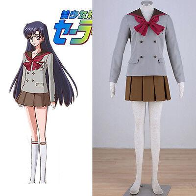 Sailor Moon Crystal Sailor Mars Hino Rei Winter School Uniform Cosplay Costume