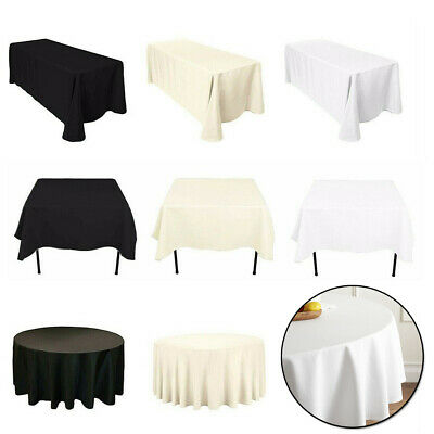 """90x90 or 90x132 10 Black Damask Banqueting Polyester Tablecloths 120/"""""""