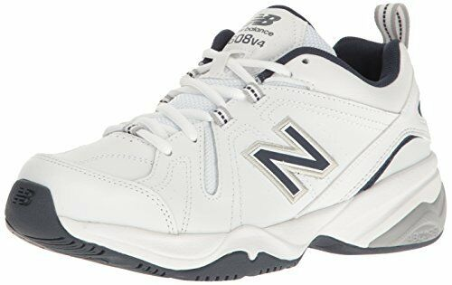 New Balance FTwear Homme MX608v4 Training Chaussures, Blanc/Navy, 9 D US