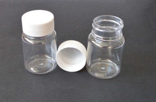 30ml 30g 56*33mm 20pcs  Sample Clear Plastic PET Bottles with white Plastic cap