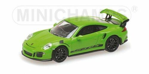 2013 Green W//STRIPES 870063224 1//87 Minichamps PORSCHE 911 gt3 RS