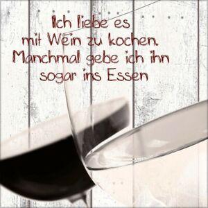 artissimo Glasbild 30x30cm Bild aus Glas Wandbild Küche Zitat Wein ...