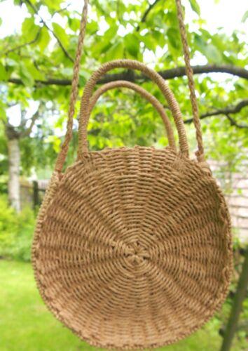 Round Straw Basket //Beach Bag