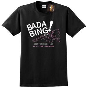 Bada Bing Sopranos Inspired T-shirt - Gangster Mafia Retro Classic TV Show NEW