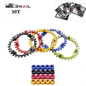 SNAIL-30T-Mountain-Bike-BCD104mm-Plato-Bicycle-Rueda-Redonda-Angosta-Tornillos